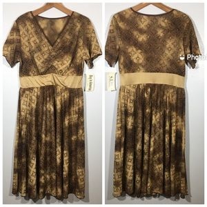 NWT Cute Sparkle Tan Gold Dress S.H.E. Nordstrom